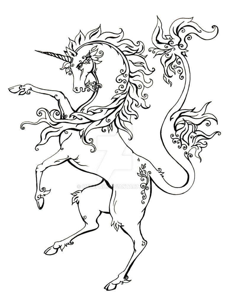 Drawing unicorns mythological creature. Line pictures at getdrawings