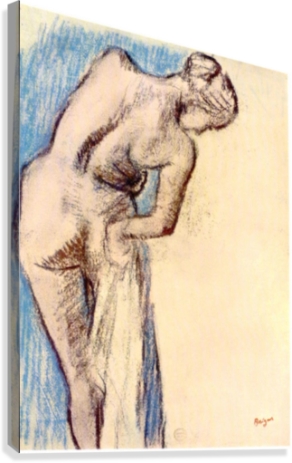 Degas drawing. Female after the bath