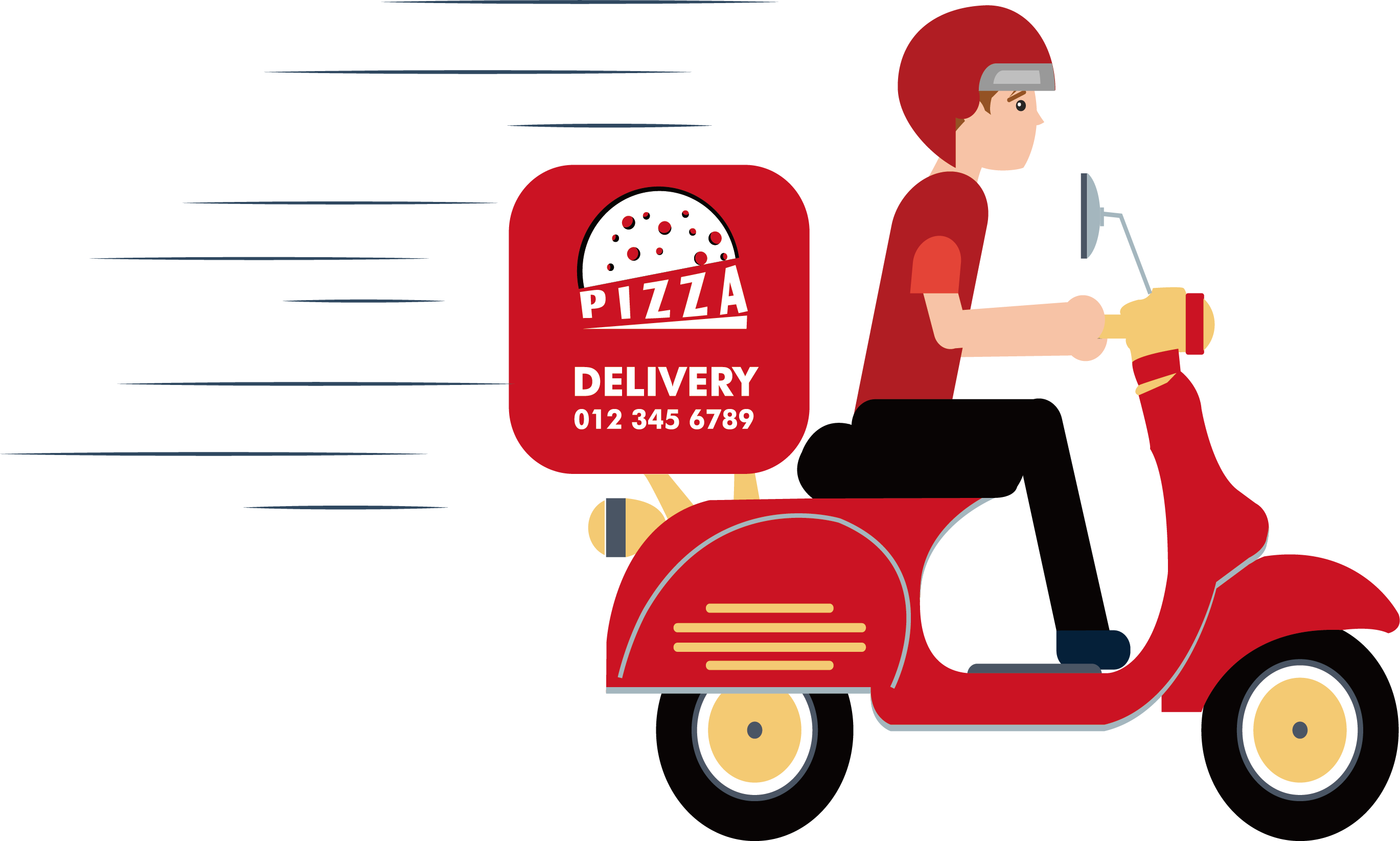 Motorcycle clipart pizza. Delivery scooter clip arts