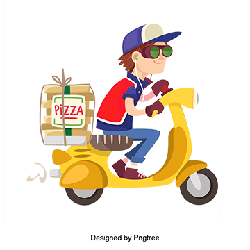 Delivery clipart kid. Pizza png vectors psd