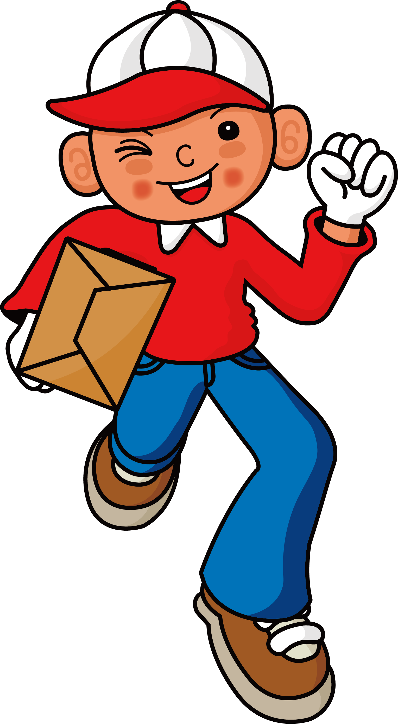 Delivery clipart kid. Courier boy clip arts