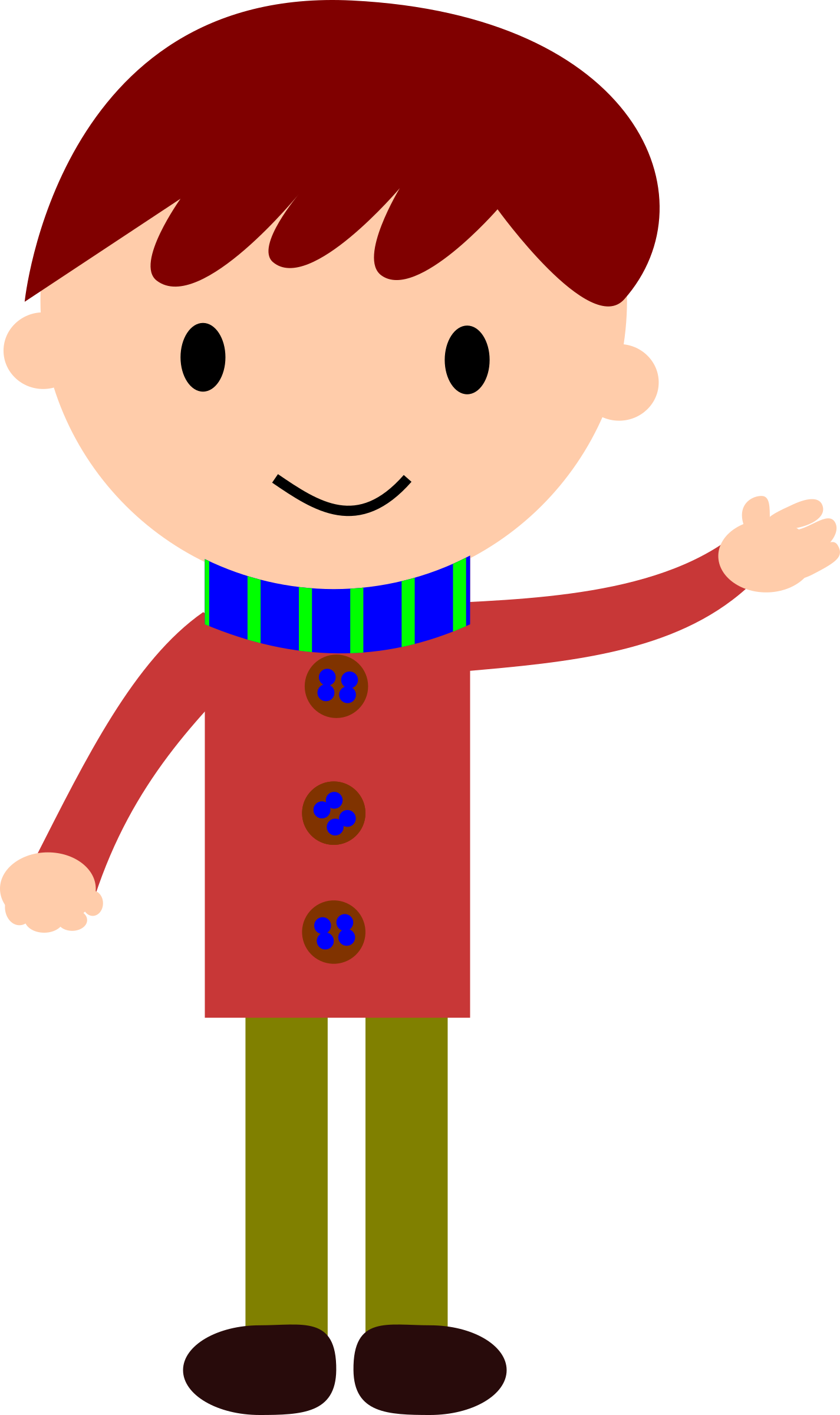 Delivery clipart kid. Waving group boy hand