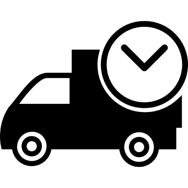 Delivery clipart on time delivery. Ios interface symbol icons