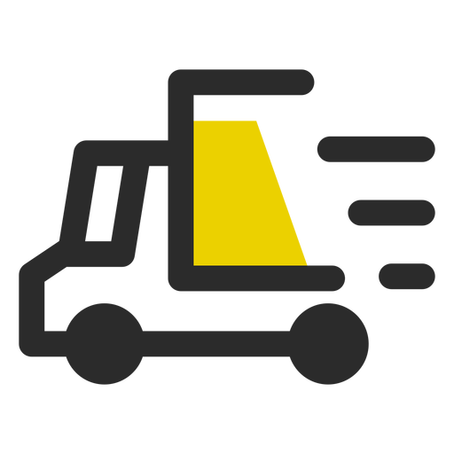 Delivery icon png. Fast colored stroke transparent