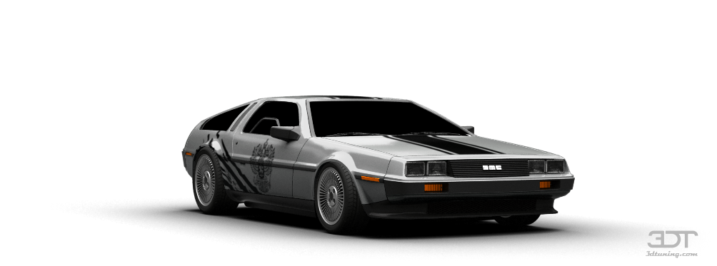 Delorean transparent dmc 12. Dtuning of coupe