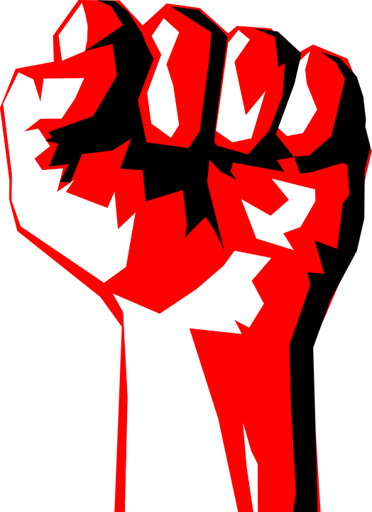 Democracy clipart. Revolution fist political collection