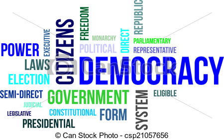 Democracy clipart. Word cloud a of transparent download