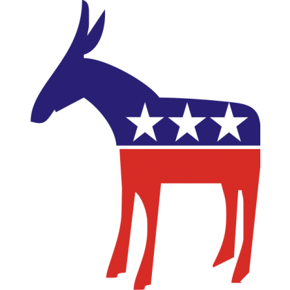 Democratic donkey png. Political baby clothes onesies