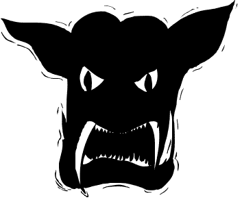 Demon clipart. Free public domain halloween