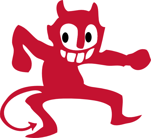 Demon clipart blue devil. Dancing clip art at