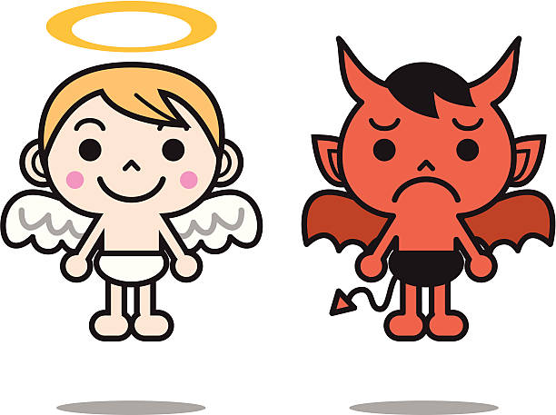 Demon clipart angel. Angels and demons at
