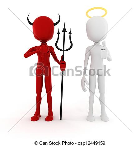 d man and. Demon clipart angel graphic library library