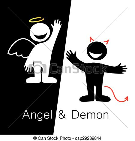 Demon clipart angel. And angels demons symbols clip art free library