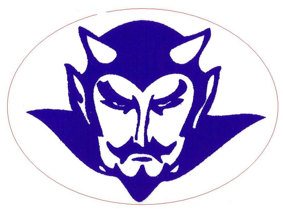 demon clipart blue devil