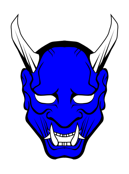 Demon clipart blue devil. Face clip art at