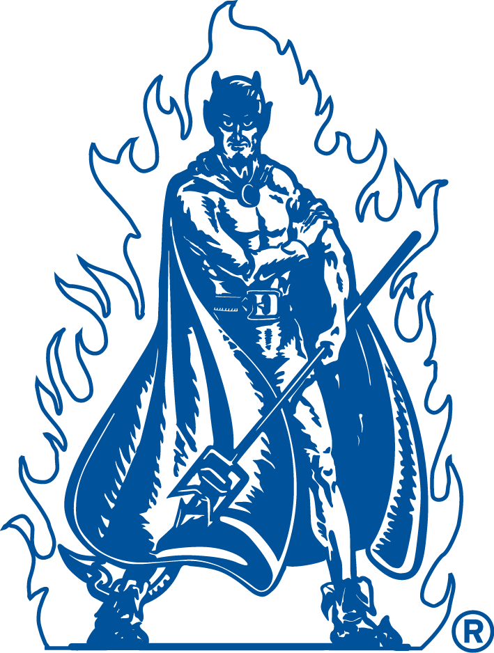 Demon clipart blue devil. Duke university devils primary