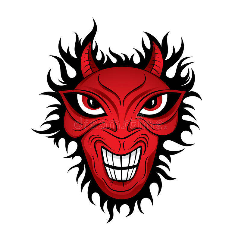 Horror illustration stock download. Demon clipart devil face svg black and white library