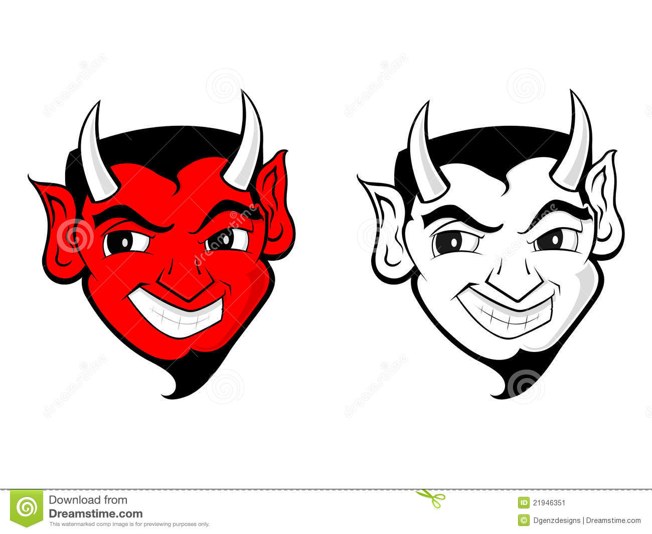 Demon clipart devil face. Mascot stock illustration of png black and white download
