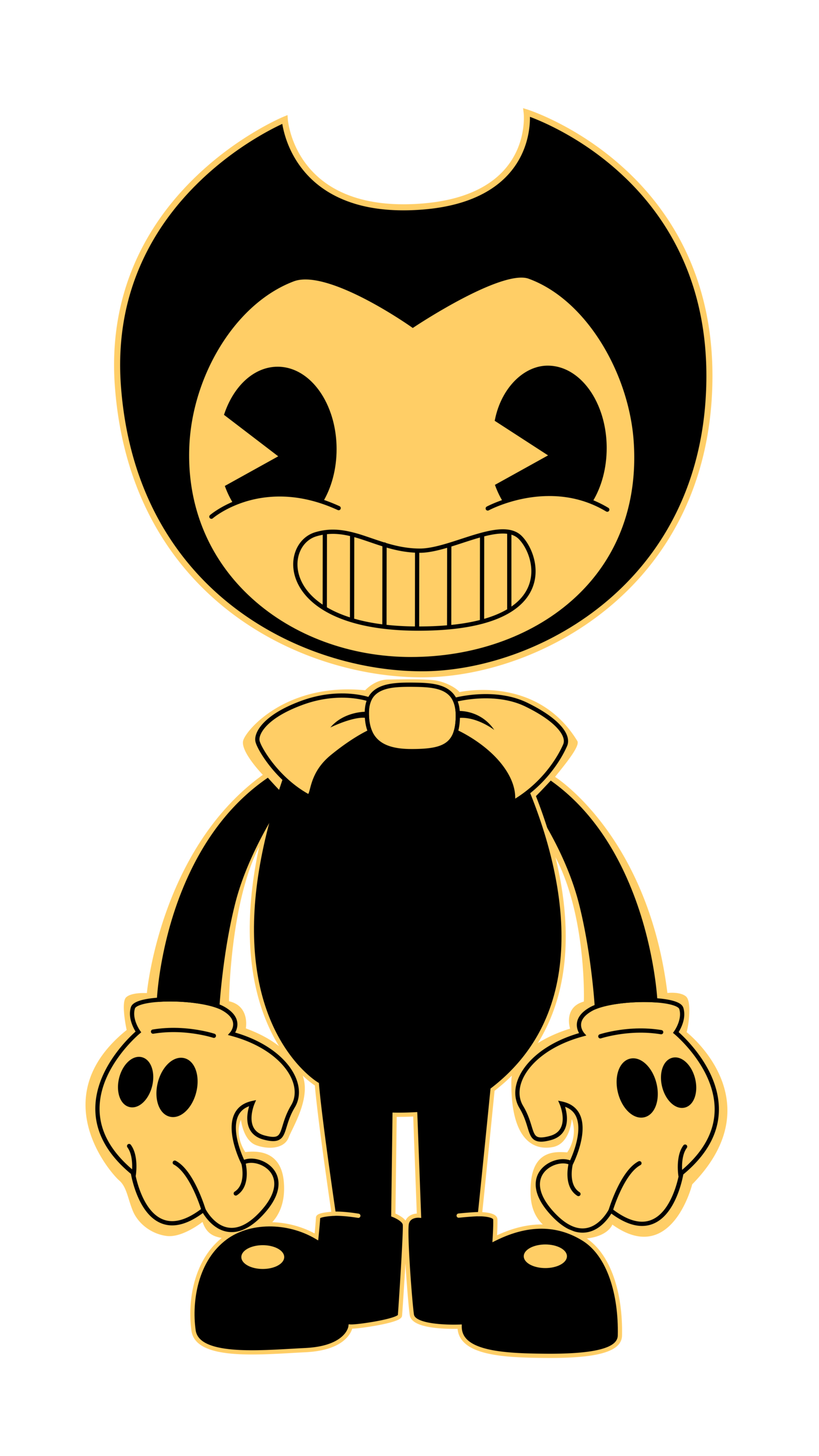 Demon clipart evil person. Bendy and the ink