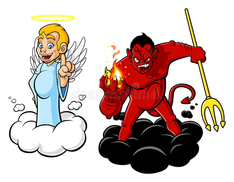 Good and stock vector. Demon clipart evil person jpg black and white library