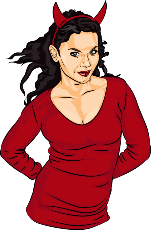 Demon clipart female devil. Woman satan free commercial