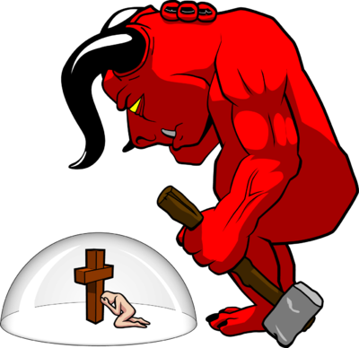 Image protected from demons. Demon clipart female devil png black and white stock