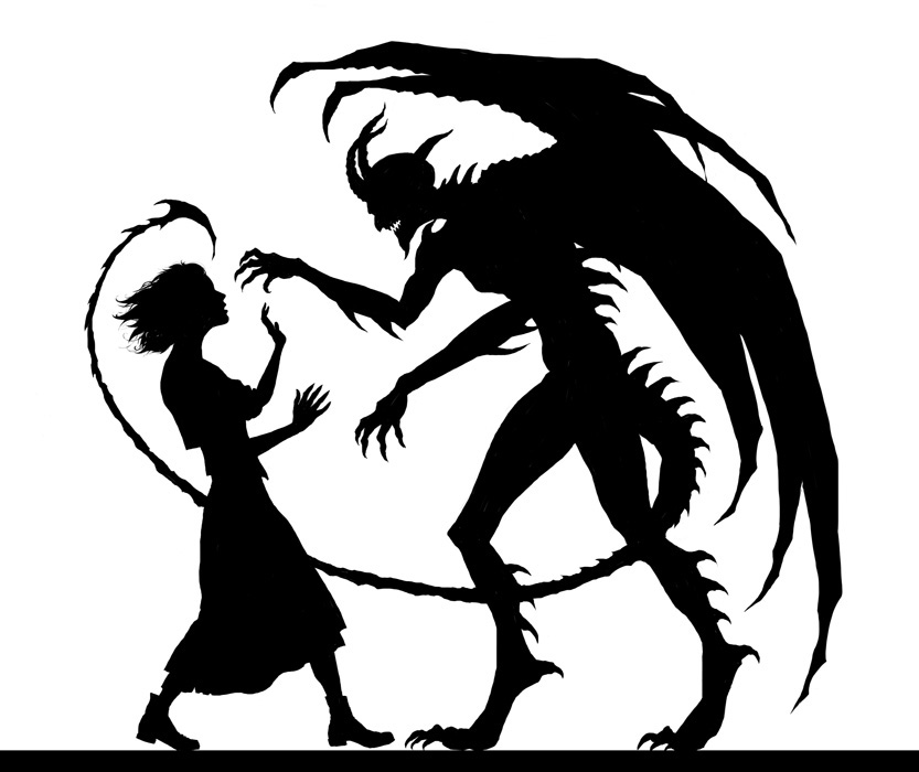 Demon clipart silhouette. At getdrawings com free