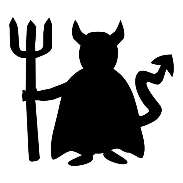 Devil and angel at. Demon clipart silhouette free