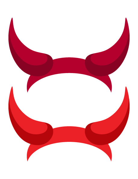 Demon ears png. Devil horns silhouette at