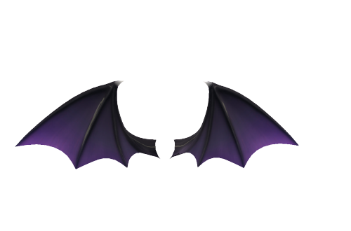 Demon ears png. Wings and tails on