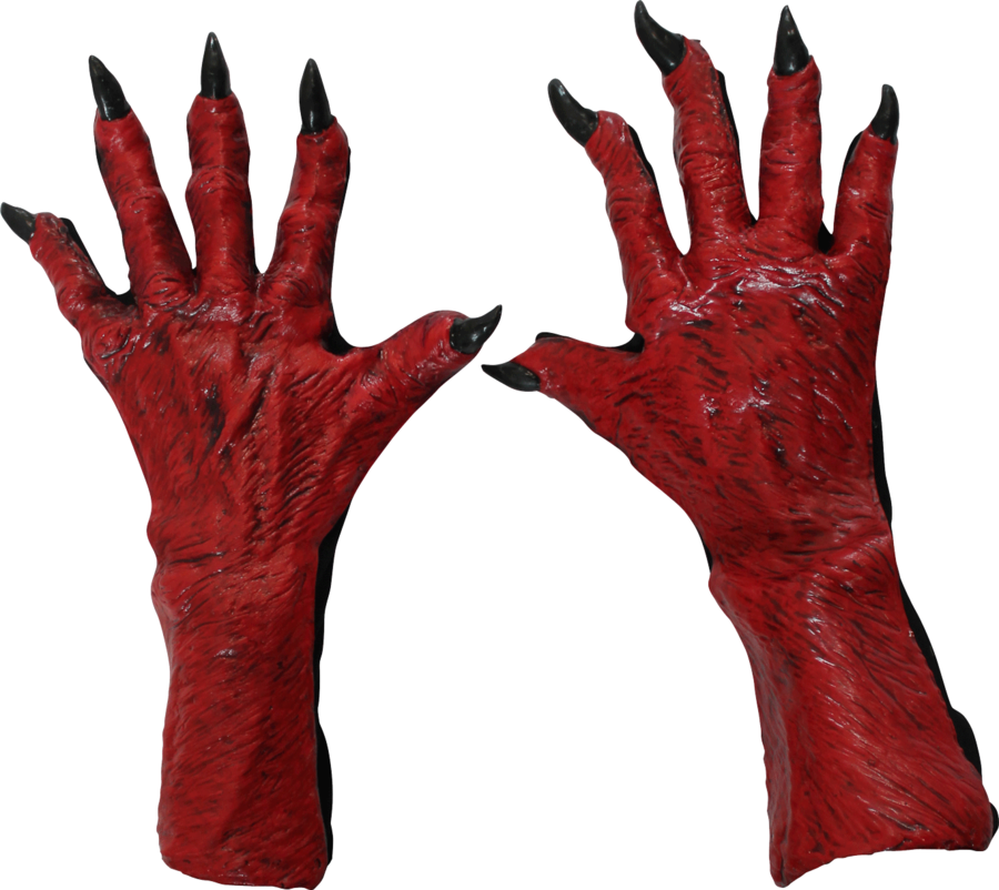 Demon hands png. Feet mystique costumes devil