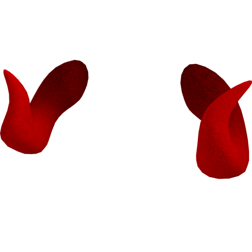 Red horns png. Image demonic brick planet