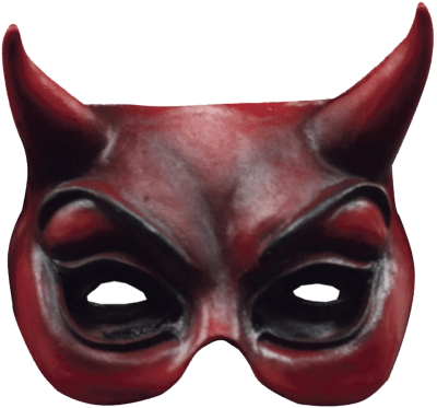 Transparent masks demon. Devil face mask png