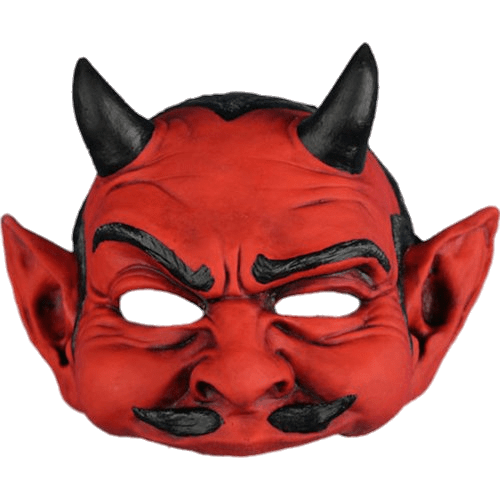 Transparent masks demon. Red devil mask png
