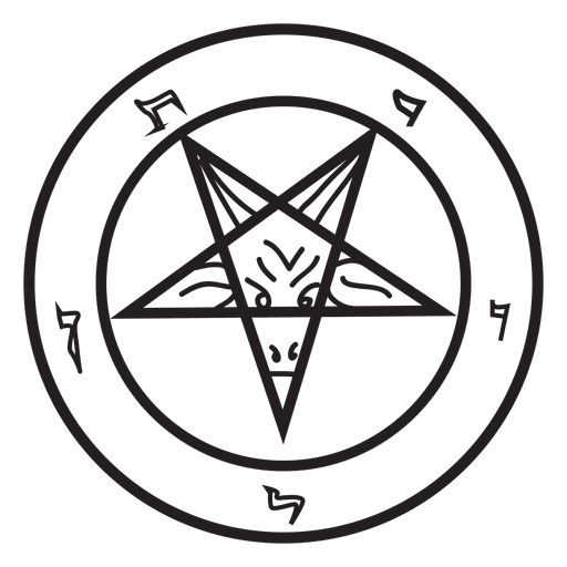 Inverted demon transparent png. Vector pentagram color clipart transparent download