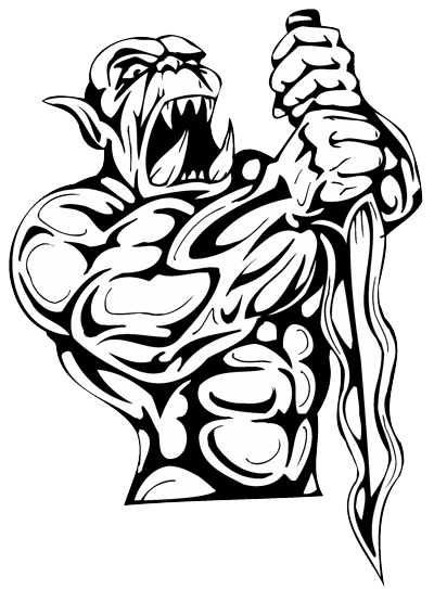 Gangster tattoos png. Demon tattoo drawing at