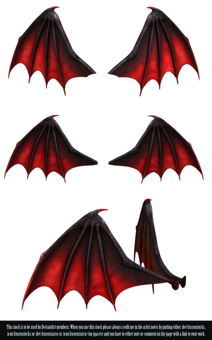 Demon wing png. Restricted wings by frozenstocks