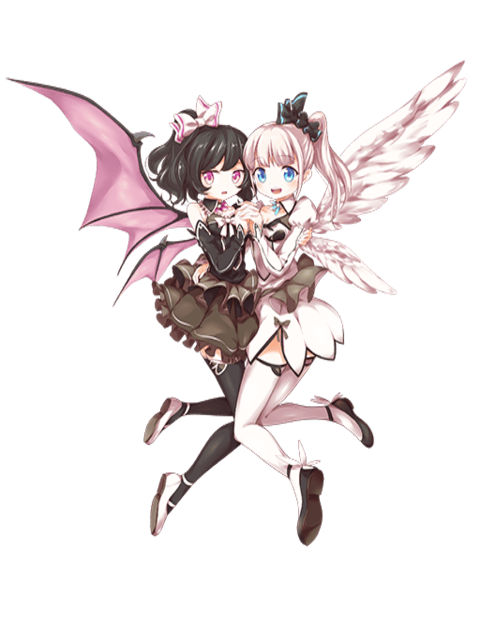 Angel and demon png. Image mimi lala transparent
