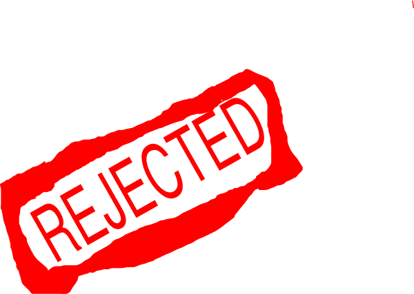 Collection of free denied. Vector rejection jpg free stock