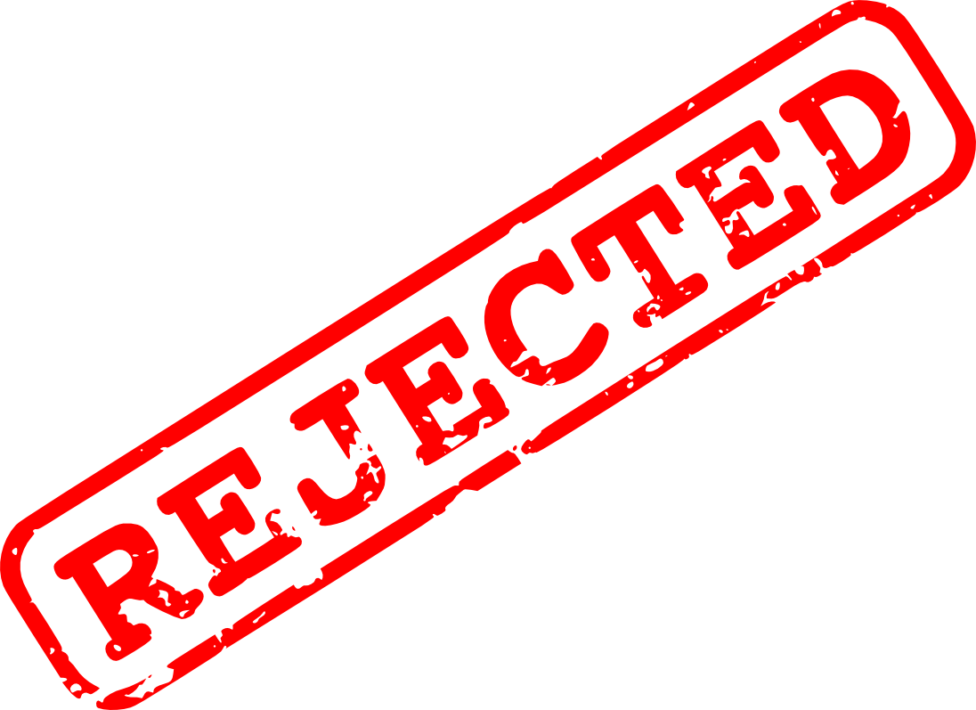red rejected stamp. Vector rejection png royalty free