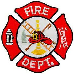 Fire dept blank logo. Department clipart vector free stock