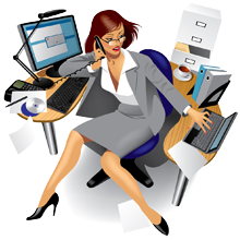 Secretary clipart admin support. Free administrative assistant cliparts