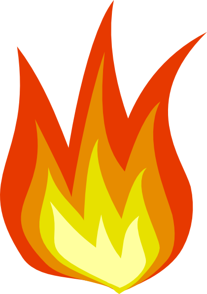 Flame clipart clear background. Fire truck at getdrawings