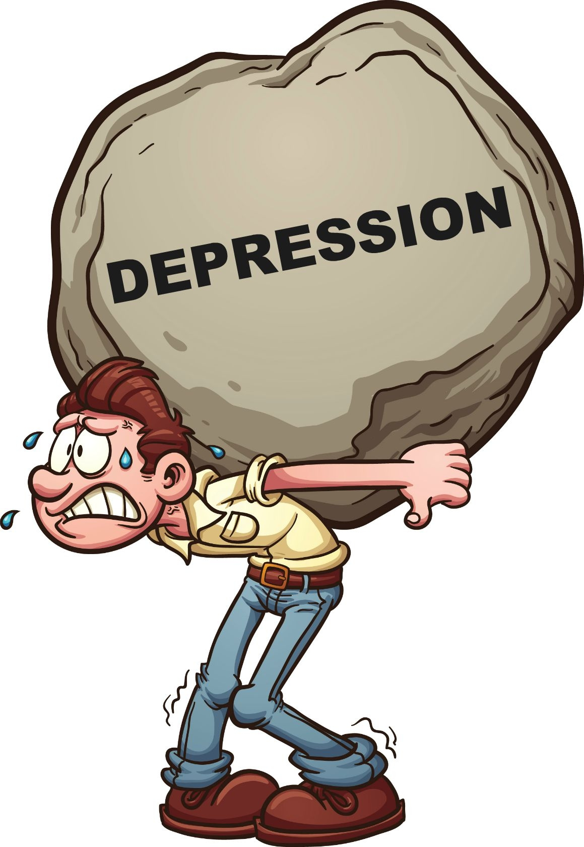 Depression clipart. Best of design digital png black and white library