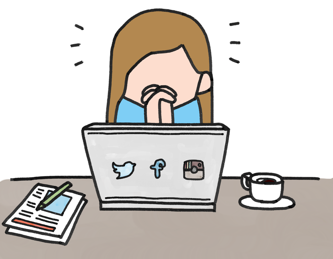 Depression clipart disapointed. Artefact social media exhaustion