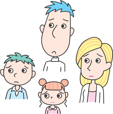 Poor clipart worried family. Free girls disappointed cliparts