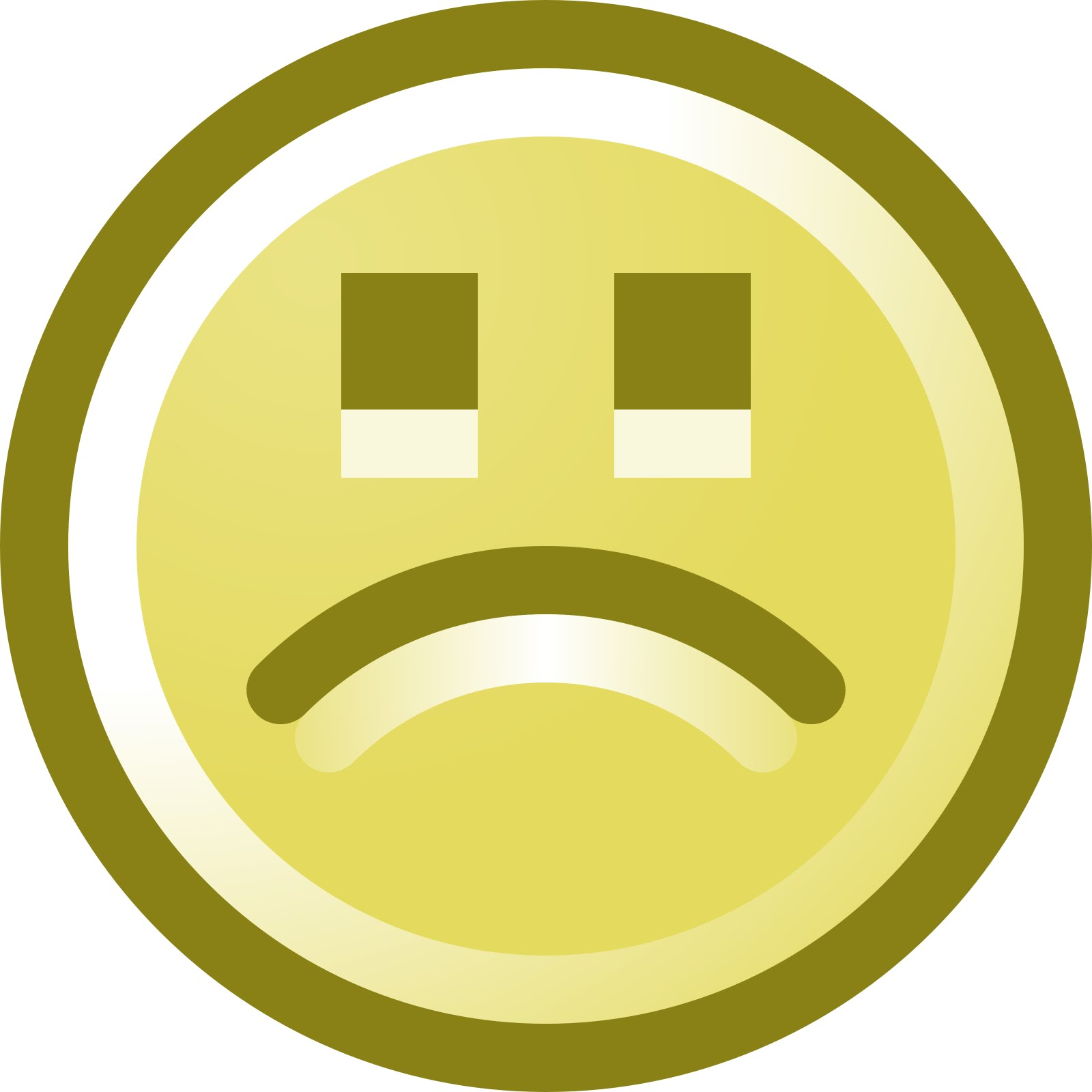 Depression clipart frustration. Simple smiley face clip