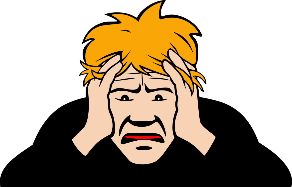 Depression clipart frustration. Worry anxiety stress emotion