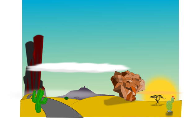 Desert cartoon png. Landscape clip art at