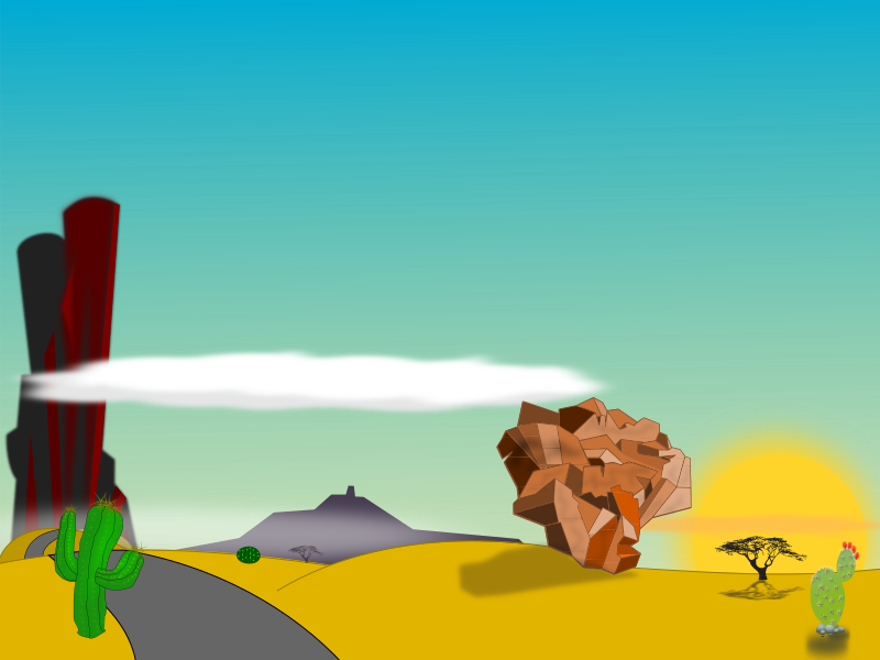Desert cartoon png. Clipart medium image